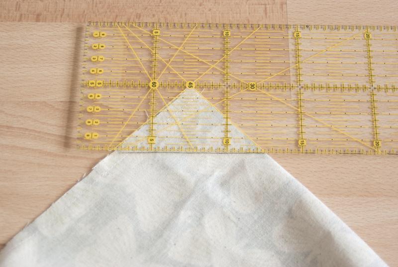 Origami Bag - Ecke nähen