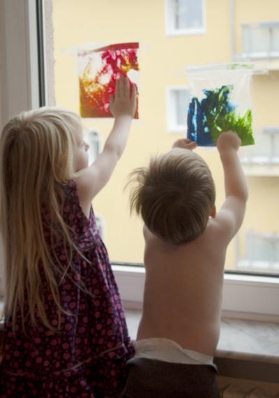 Bastelidee gegen lagerkoller bei dauerregen marja katz - Fingerfarben ideen ...