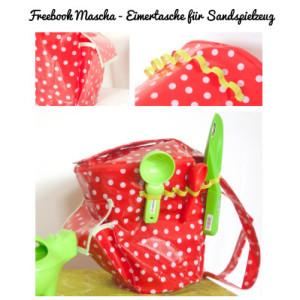 Freebook Mascha - Eimertasche für Sandspielzeug
