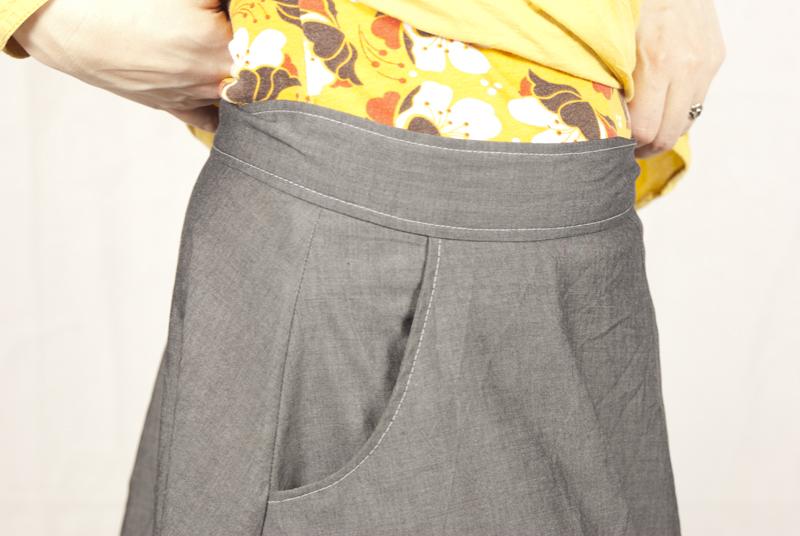 Hollyburn: Bund und Ziernaht mit Tasche