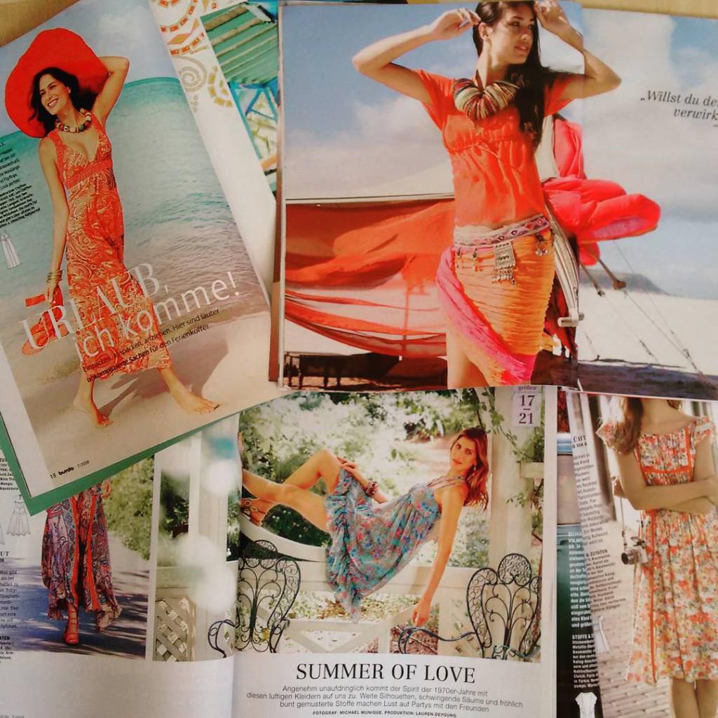 Schnittmuster für Sommerkleider aus der Burda