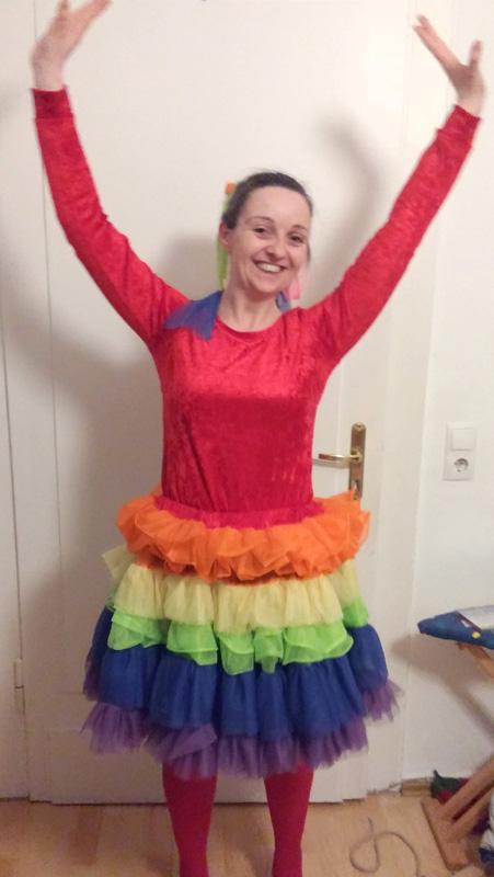 Regenbogen-Kostüm für Karneval