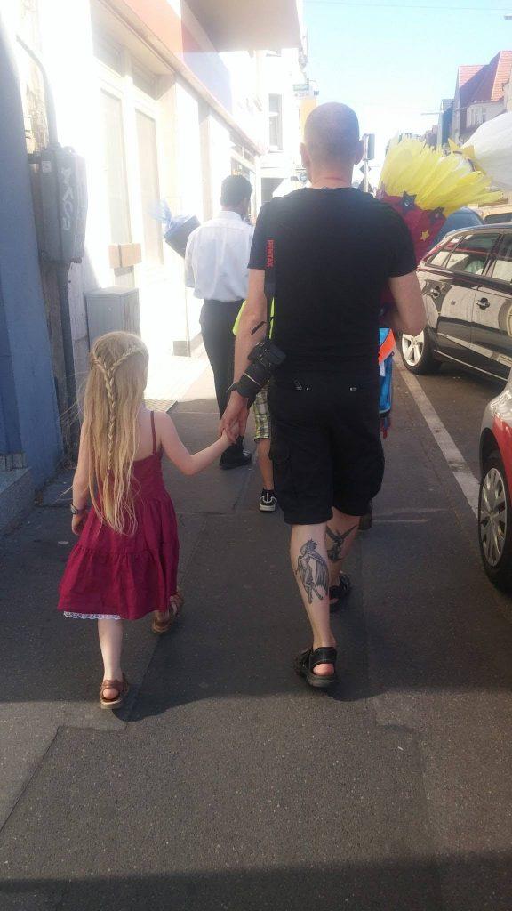 Einschulung 2016 - Papa und Tochter