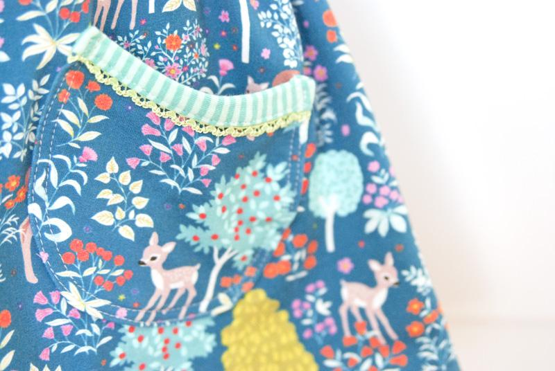 Tasche Waldkleid - Winterkleid für Mädchen