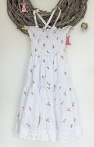 Sommerkleid für Kinder mit Smok-Nähten